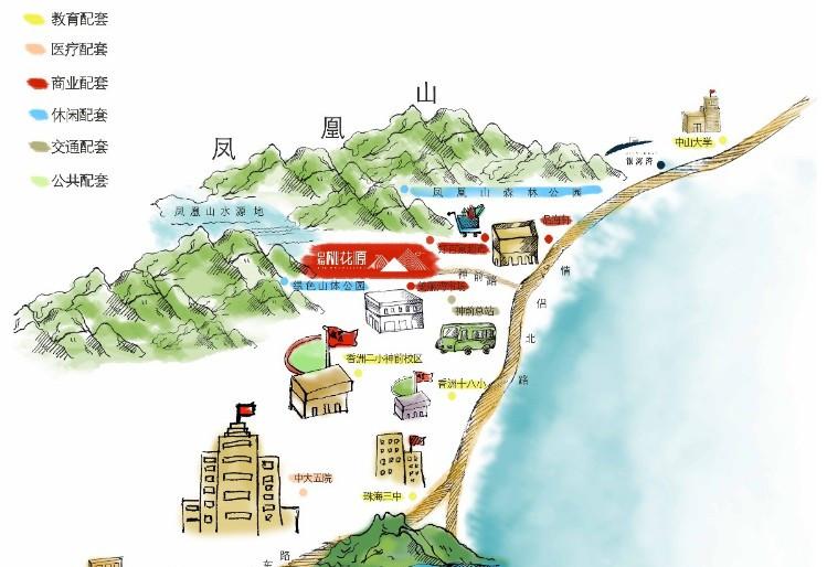 珠海九洲城地图